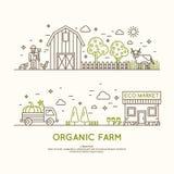 耕种收获的Infographics 库存照片