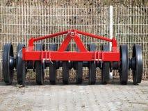耕种机器-猛撞的青贮 免版税库存图片