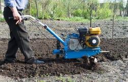 耕种耕地机 免版税库存图片