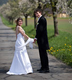 耦合婚礼年轻人 免版税图库摄影