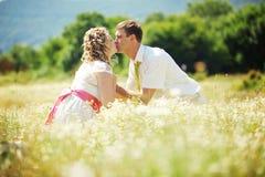 耦合婚礼 库存照片