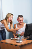 耦合年轻人 免版税库存图片