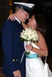 耦合愉快的婚礼 免版税库存图片