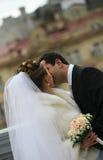 耦合最近结婚 免版税图库摄影