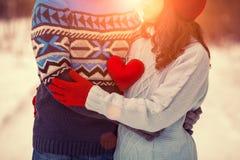 耦合爱年轻人 免版税库存照片