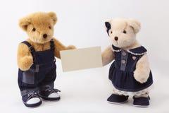 耦合玩具熊 免版税库存图片