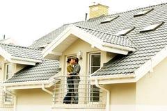 耦合系列前房子一 免版税库存照片