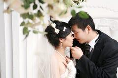 耦合纵向婚礼 免版税图库摄影