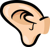 耳朵剪贴美术动画片例证 免版税图库摄影