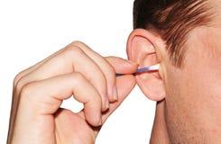 耳朵卫生学 免版税图库摄影