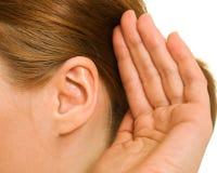 耳朵妇女 库存图片