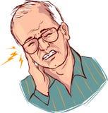 耳朵痛 免版税图库摄影