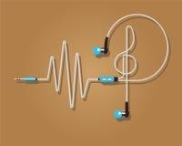 耳机传染媒介例证 节奏 免版税库存图片