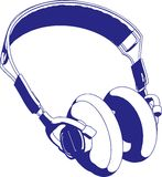 耳机例证向量 免版税库存图片