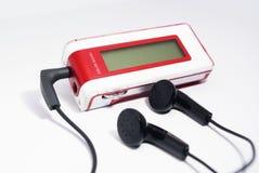 耳机媒体播放器 免版税库存图片