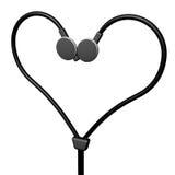 耳机心脏 库存照片