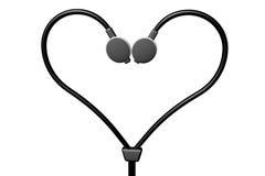 耳机心脏 库存图片