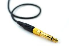 耳机插件 免版税图库摄影