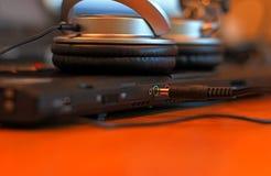 耳机插孔 免版税库存照片