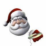 耳机查出圣诞老人 库存图片