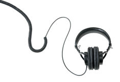 耳机查出白色 图库摄影