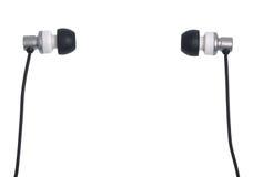 耳机查出白色 库存照片