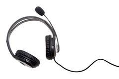 耳机查出的白色 免版税库存图片