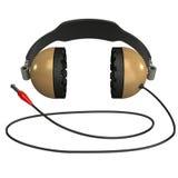 耳机查出的3D 免版税库存图片