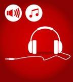 耳机的例证 免版税库存图片