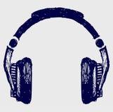 耳机草图 免版税库存图片