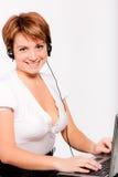 耳机运算符电话技术支持 免版税图库摄影
