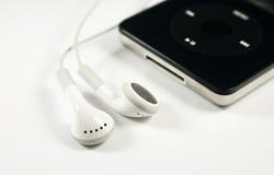 耳机音乐播放器 库存图片