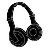 耳机 也corel凹道例证向量 免版税库存图片