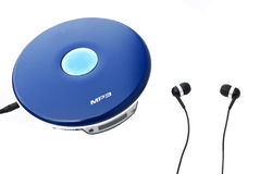 耳机MP3播放器 免版税图库摄影