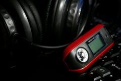 耳机MP3播放器 免版税库存照片