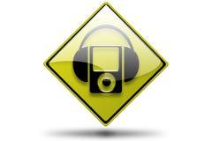 耳机mp3 库存例证