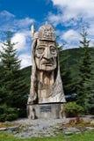 耳语的巨人图腾的足迹在巴尔德斯阿拉斯加 库存照片