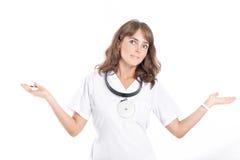 耳鼻喉科妇女的医生 免版税图库摄影