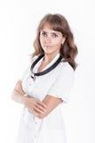 耳鼻喉科妇女的医生 库存图片