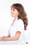 耳鼻喉科妇女的医生 图库摄影