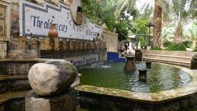 耶利哥喷泉在以色列 库存图片