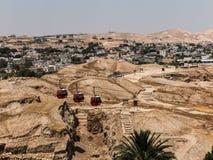 耶利哥是在约旦河附近位于的巴勒斯坦城市 库存图片