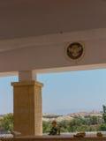 耶利哥,以色列- 2014年7月14日:与约旦的以色列的边界在 库存图片