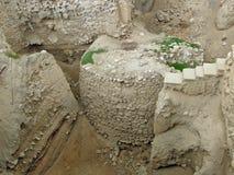 耶利哥:塔和镇墙壁遗骸  库存照片