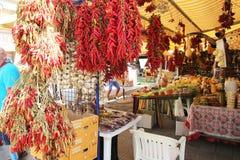 维耶斯泰市场 库存照片
