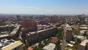 耶烈万市惊人的全景亚美尼亚、房地产和街道的 影视素材