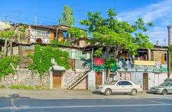 耶烈万的Kond区贫民窟  库存照片