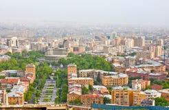 耶烈万,亚美尼亚, 6月, 23日: 城市耶烈万,山 免版税库存照片