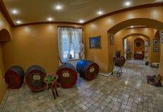 耶烈万,亚美尼亚- 2017年8月05日:诺伊(阿勒山)白兰地酒工厂v 免版税库存照片
