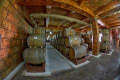 耶烈万,亚美尼亚- 2017年8月05日:诺伊(阿勒山)白兰地酒工厂v 库存图片